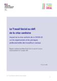 Le Travail Social au défi de la crise sanitaire - application/pdf